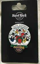 Hard Rock Hotel Sioux City 2014 Happy Holidays Team Member Snow Globe Pin LE
