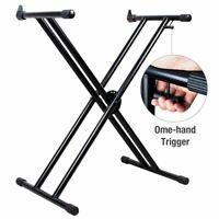 5 Core Premium Hand Trigger Heavy Duty Keyboard Stand Double X Frame Rack KS2XHD