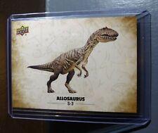 2015 Upper Deck Dinosaurs Allosaurus #S-3 Trading Sticker Card