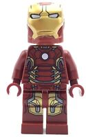 LEGO IRON MAN MINIFIG - MARK 43 - RARE SUIT SUPER HERO TONY STARK AVENGERS 76032