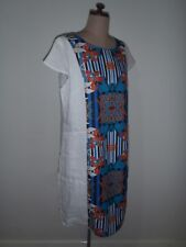 VIVID DRESS, SIZE 14, 100% LINEN, VIBRANT PRINT, BRAND NEW WITH TAGS! RRP$98