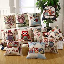 Animals Cotton Linen Cushion Cover Sofa Pillowcase Car Seat Home Decor 45*45cm