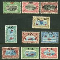 Belgian Congo 1908 Collection w/ Elephant Railroad Train Mint Non Hinged W560