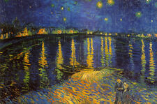 Starry Night Over the Rhone, c. 1888 Poster Print by Vincent van Gogh, 36x24