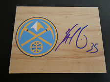 "KENNETH FARIED ""MANIMAL"" signed NUGGETS basketball floor tile NBA FREE SHIPPING"
