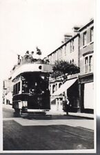 Old Photograph of Dover Tram No. 22  In London Road Near Railway Bridge