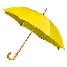 El gancho de madera Alrai Auto Caminar Paraguas Para Bodas Y Eventos-Amarillo Oro