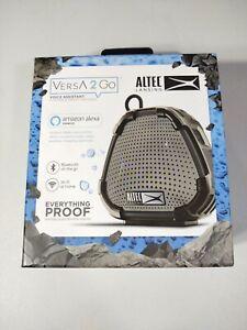 Altec Lansing Versa 2 Go Voice Assistant Waterproof Portable Smart Speaker Black