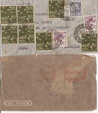 BRAZIL-2 airmail covers-one contrived (1940/1941) to Paris & New York City