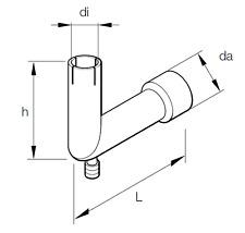 Eberspacher Exhaust adapter Bend 24mm 90° (251226894500)