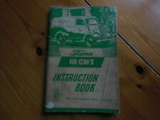 FORD THAMES 10cwt,  MODEL  INSTRUCTION BOOK