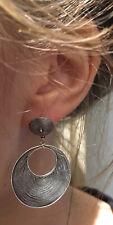 Vintage, Solid Sterling Silver, Stylish Drop Earrings For Pierced Ears.