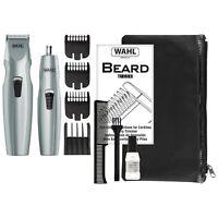 WAHL Mustache & Beard Battery Trimmer Kit w/ Nose Trimmer (Model: 5606-5601)
