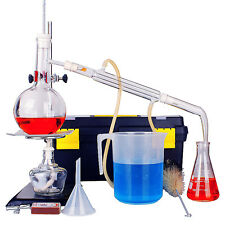 500ml Neue Labor Destille ätherisches Öle Rein Wasser Gerät Glaswaren Satz