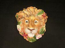 FITZ & FLOYD Classics Serengeti LION King Jungle Wall Plaque Shelf Plate Holder