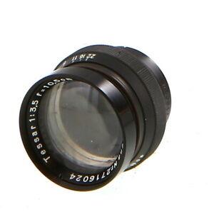 Vintage Carl Zeiss Jena 10.5cm (105mm) f/3.5 Tessar Barrel Lens - UG