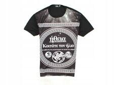 *H TopMan Mens T-shirt Print Black Tee size L