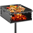 16X16 Inch Heavy Duty Charcoal Grill BBQ Single Post Park Style Outdoor Cooking photo