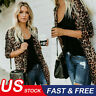 Hot ! Women's Autumn Leopard Print Sweater Cardigan Coat Jacket Long Sleeve Tops