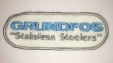 """Grundfos Patch - Stainless Steel Pumps - vintage """"Stainless Steelers"""""""