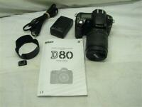 Nikon D80 Digital SLR Camera w/18-135mm DX Zoom Lens 10.2 MP