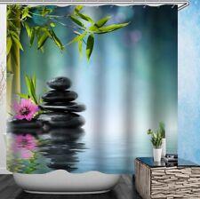 Beautiful Zen Garden Relaxing Art Shower Curtain Waterproof Fast Shipping