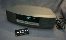 + BOSE Wave Music System CD AM/FM Radio in Titanium Silver w/ a CD Remote +