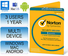 Norton Internet Seguridad 3.0 de lujo multi dispositivo 3 Usuarios 1 AÑO