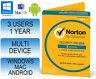 Norton Internet Security 3.0 Deluxe Multi Device 3 Users 1 Year Antivirus 2017