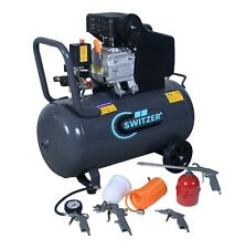 Switzer Mobile Air Compressor - 50 Litre 2.5hp 8 BAR - With 5PC Spray Kit AC004