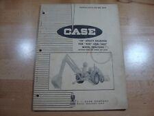 Case 22 Utility Backhoe 430 440 tractors Parts Catalog Manual 1963 A691