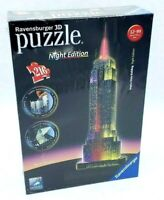 Ravensburger 3D Night Edition Puzzle #12-566-1 Empire State Building 216 Pieces