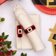 8 x Dear Santa Felt Napkin Rings Holders Christmas Dinner Table Decoration