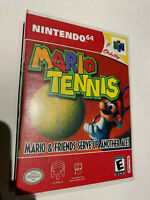 super MARIO TENNIS  n64 NINTENDO 64 GAME CART CARTRIDGE U.S. AUTHENTIC ORIGINAL