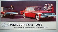 Prospekt Rambler Classic 6, Ambassador V8 1963, 12 Seiten, folder, englisch