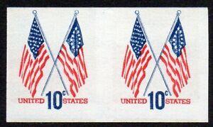 1519a 10c Flag imperf pair MNH