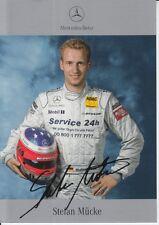 Stefan Mucke Signed Mercedes-Benz DTM Promo Card.