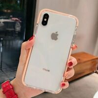 Case For iPhone XR 12 11 Pro Max mini SE2 X Silicone Cute Clear Protective Cover