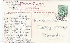 Genealogy Postcard - Family History - Bolland - Balby Vicarage - Doncaster U3266