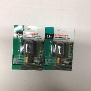 Sylvania 25T8DC #18321 Appliance Microwave Light Bulb Ba15d Bayonet Base 2-pcs