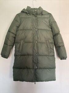 Tommy Hilfiger Extra Long Dupont Sorona Khaki Puffer Coat Age 10 (140 cm)