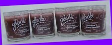 4 Glade Winter Collection Chocolate Cherry Sparkle Candle up to 22 hrs Burning