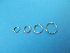 4 Silver 20g  XSm Sm Med and Large  Endless Hoops Body Piercing Rings  Earrings