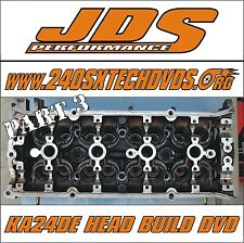 Nissan 240sx KA24DE Cylinder Head Build DVD Video S13 S14 Cams Turbo Remanned
