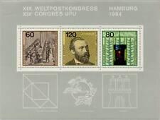 BRD 1984: Weltpostkongreß UPU in Hamburg! Block Nr. 19, postfrisch! 1811