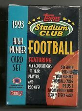 1993 Stadium Club High Number Factory Sealed Football Set D Bledsoe  J Bettis  +