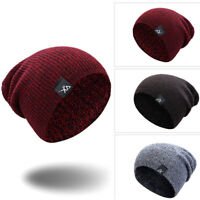 USA Casual Unisex Beanie Knit Ski Cap Hip-Hop Blank Color Winter Warm Solid Hats