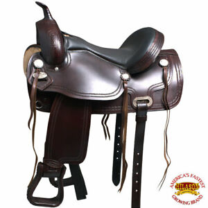 17 In Western Horse Treeless Saddle American Leather Trail Pleasure