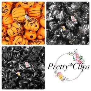 4 For 3 Halloween Pony Beads Pumpkin/Bats 6x Craft