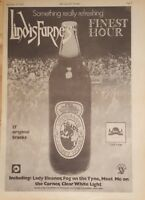 Lindisfarne Finest hour  1975 press advert Full page 28 x 39 cm poster